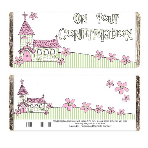 Pink On Your Confirmation Church Chocolate Bar
